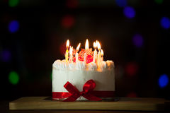 Happy Birthday Cake Burning Candles Stock Photos 1488 Images