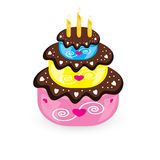 Birthday cake and candle Royalty Free Stock Image