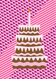 A birthday cake Stock Photography