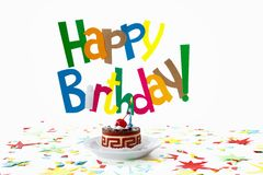 Birthday cake, Candle Royalty Free Stock Photography