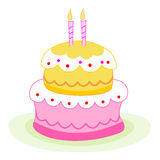 Birthday cake / candles Royalty Free Stock Image