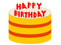 Birthday cake with candles Royalty Free Stock Images