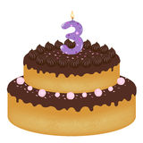 Birthday Cake With Candles Royalty Free Stock Photos