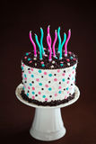 Birthday cake with candles Royalty Free Stock Image