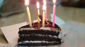 Birthday cake. With candles Stock Image