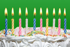 Birthday cake with candles. Stock Photography