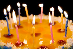 Birthday cake with candles Stock Photography