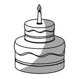 Birthday cake with candles icon image. Illustration design Royalty Free Stock Photos