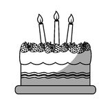 Birthday cake with candles icon image. Illustration design Stock Photography