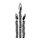 Birthday cake candles icon image. Vector illustration design Stock Photo