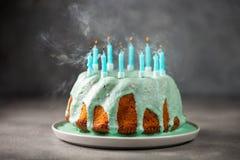 birthday cake candles illustration vector στοκ εικόνες