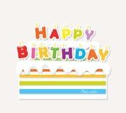 birthday cake candles illustration vector Αυτοκόλλητη ετικέττα διακοπής εγγράφου Στοκ εικόνες με δικαίωμα ελεύθερης χρήσης