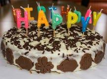birthday cake candles illustration vector γενέθλια ευτυχή Στοκ φωτογραφία με δικαίωμα ελεύθερης χρήσης