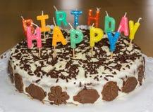 birthday cake candles illustration vector γενέθλια ευτυχή Στοκ φωτογραφίες με δικαίωμα ελεύθερης χρήσης