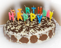 birthday cake candles illustration vector Χρόνια πολλά αντικείμενο τροφίμων Στοκ Εικόνα