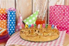 birthday cake candles illustration vector Στοκ Εικόνα