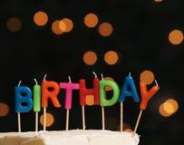 birthday cake candles illustration vector Στοκ εικόνα με δικαίωμα ελεύθερης χρήσης