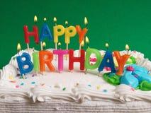 birthday cake candles illustration vector Στοκ Φωτογραφίες