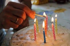birthday cake candles illustration vector στοκ φωτογραφία