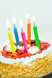 birthday cake candles illustration vector Στοκ Εικόνες