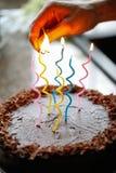 birthday cake candles illustration vector Στοκ φωτογραφίες με δικαίωμα ελεύθερης χρήσης
