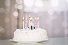 birthday cake candles illustration vector Στοκ Φωτογραφία