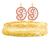 Birthday cake candles number ninety nine isolated Royalty Free Stock Images