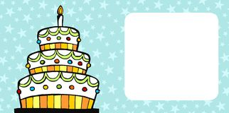 Birthday cake card Stock Photo