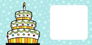 Birthday cake card stock photo
