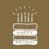 Birthday cake card Royalty Free Stock Image