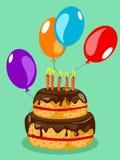 Birthday cake card Stock Photos
