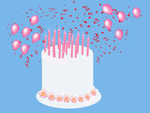 Birthday Cake  Card Illustration Stock Photo