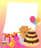 Birthday cake card Royalty Free Stock Photography