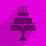 Birthday cake card Stock Photography