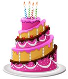 Birthday cake cartoon Royalty Free Stock Photography