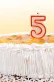 Birthday cake ceebrating five Royalty Free Stock Photo