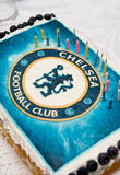 Birthday cake for Chelsea fan Stock Photo