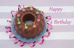 Birthday cake for a children party Royalty Free Stock Photo