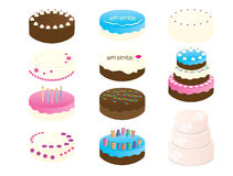 11 Birthday Cake Clip arts. Birthday Cake Clipart - 11 Cake Illustration - wedding Cake digital file - printable cakes Stock Photos