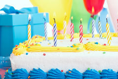 Birthday Cake Closeup Royalty Free Stock Images