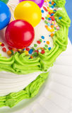 Birthday Cake in Closeup Stock Photo
