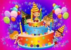 Birthday cake, Royalty Free Stock Images