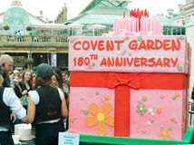 Birthday cake at Covent Garden's 180th birthday Stock Photo
