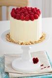 Birthday cake with cream cheese Royalty Free Stock Image