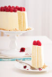 Birthday cake with cream cheese Royalty Free Stock Photo