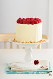 Birthday cake with cream cheese Royalty Free Stock Photography