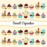 Birthday cake Cute cartoon stock illustration