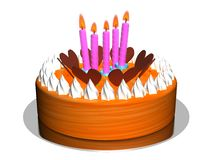 Birthday Cake_Raster Stock Photo