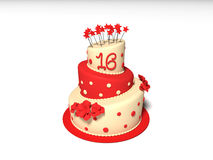 Birthday Cake. 3D rendered illustration the birthday cake vector illustration