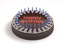 Birthday Cake. 3D rendered illustration the birthday cake royalty free illustration